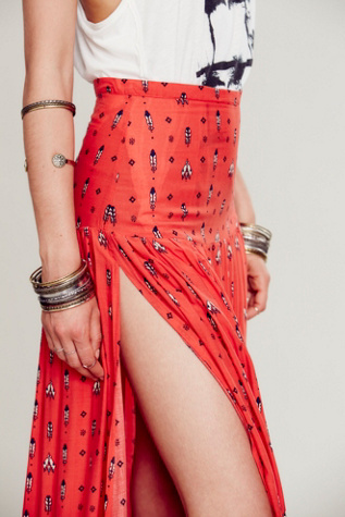 Free People Spell & the Gypsy Collective Desert Wanderer Split Maxi Skirt