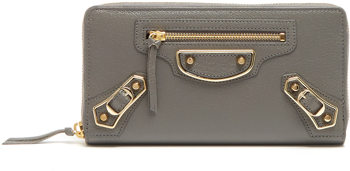 Balenciaga  BALENCIAGA Metallic Edge zip-around leather wallet