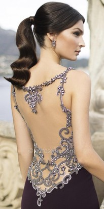 Tarik Ediz Side Evening Dress $1,460 thestylecure.com
