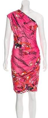 Emilio Pucci Printed One-Shoulder Dress
