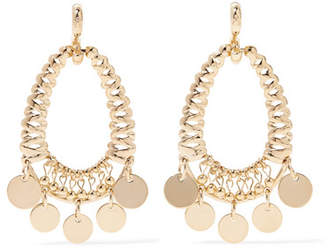 Eddie Borgo Batik Gold-plated Cubic Zirconia Earrings