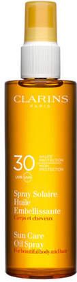Clarins Sunscreen Care Oil Spray SPF 30, Body & Hair, 5 oz./ 15 mL