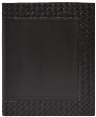 Bottega Veneta Intrecciato Leather Notebook - Black