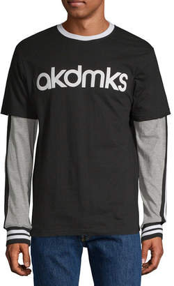 Akademiks Mens Round Neck Long Sleeve Jersey