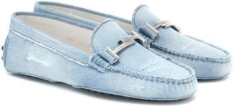 Tod's Double T Gommino denim loafers