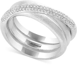 Effy Balissima by Diamond Crisscross Statement Ring (1/3 ct. t.w.) in Sterling Silver