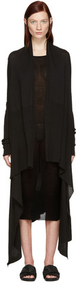 Rick Owens Black Long Wrap Cardigan $660 thestylecure.com