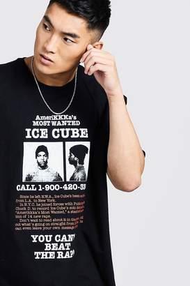 boohoo Ice Cube Wanted Oversized T-Shirt