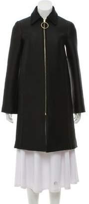 Celine Textured Knee-Length Coat