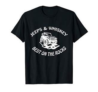 Jeeps and Whiskey are Best on the Rocks 4x4 alcohol T-shirt