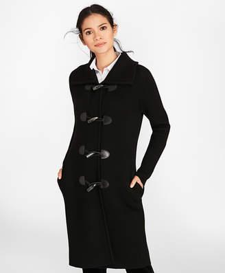 Brooks Brothers Merino Wool Milano-Knit Sweater Coat