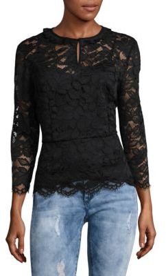 Embroidered Floral Lace Blouse
