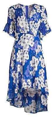 Elie Tahari Women's Ava Floral Chiffon Dress