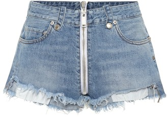 Unravel High-rise denim shorts