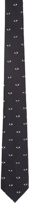 Kenzo Black Eyes All Over Tie $85 thestylecure.com
