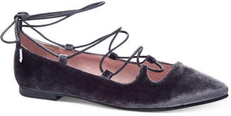 Chinese Laundry Endless Summer Velvet Lace-Up Flats Women's Shoes $69 thestylecure.com