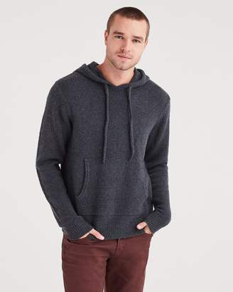7 For All Mankind Marled Sweater Hoodie in Charcoal