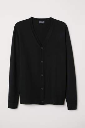 H&M Merino Wool Cardigan - Black
