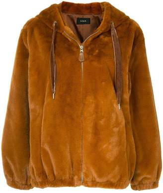 G.V.G.V. faux-fur hooded jacket