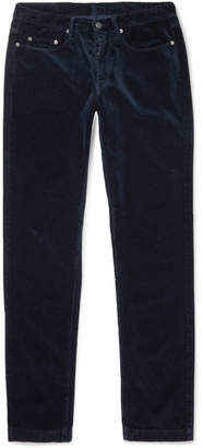 Massimo Alba Cotton-velvet Trousers - Navy
