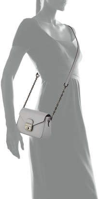 Longchamp Le Pliage Heritage Mini Leather Crossbody Bag