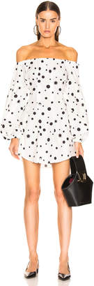 Miaou Heidi Dress in White Polka Dot | FWRD