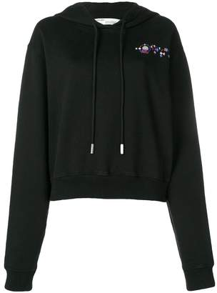 Off-White cropped jewel embellished hoodie