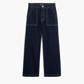 "J.Crew 10"" highest-rise sailor pant in nautical blue wash"