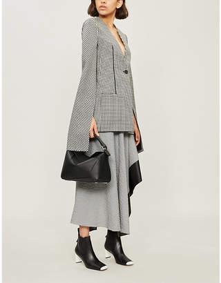 Loewe Houndstooth flared-sleeve wool jacket