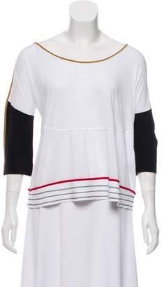 Fendi Contrast Long Sleeve Top