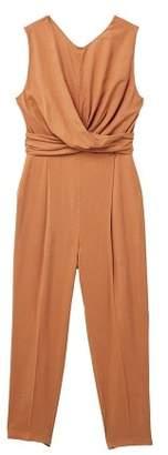 MANGO Wrap neckline jumpsuit