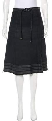 Louis Vuitton Suede Knee-Length Skirt