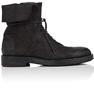 Barneys New York Men's Leather Lace-Up Boots - Black