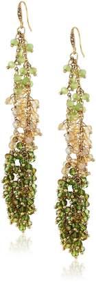 "ABS by Allen Schwartz Vibrant Vibes"" Fw-Charmy Multi-Linear Drop Earrings"