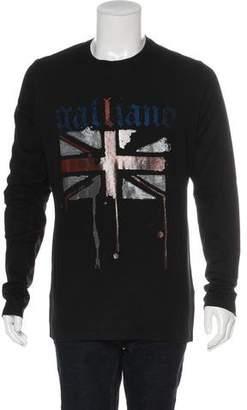 Galliano Printed Long Sleeve Sweatshirt w/ Tags