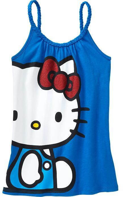 Hello Kitty Girls Braided-Strap Tanks