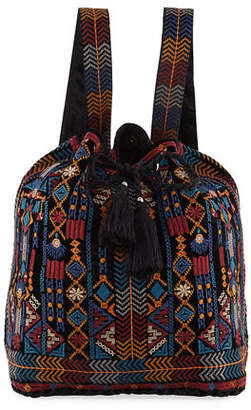 Johnny Was Cleo Velvet Drawstring Backpack