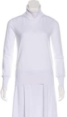 Louis Vuitton Rib Knit-Accented Lightweight Turtleneck