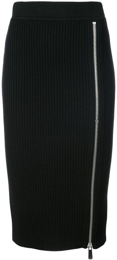 Michael Kors zip detail pencil skirt