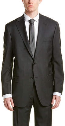 Hart Schaffner Marx 2Pc Wool-Blend Suit With Flat Front Pant