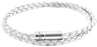 Tateossian Men's Braided Leather Double-Wrap Bracelet