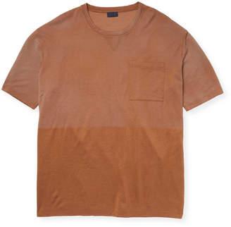 Lanvin Men's Two-tone Crew T-Shirt
