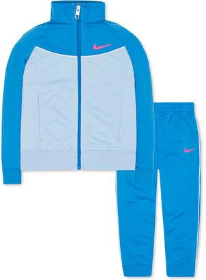 Nike 2-Pc. Tricot Jacket & Jogger Pants Set, Toddler & Little Girls (2T-6X) $48 thestylecure.com