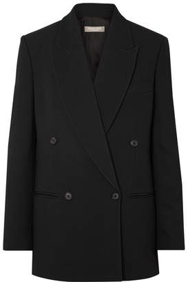 Michael Kors Oversized Double-breasted Crepe Blazer - Black