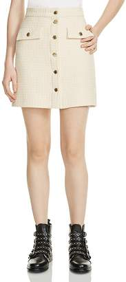 Maje Jiba Tweed Mini Skirt