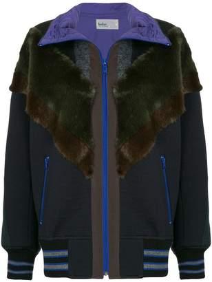 Kolor patchwork oversized jacket