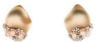 Alexis Bittar Moonstone, Crystal & Lucite Clip-on Earrings