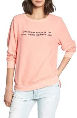 Wildfox Couture Rose Glasses Beach Sweatshirt