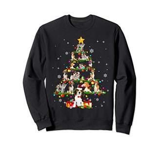 Up Star Beagles Tree Christmas santa Hat Paw X-mas Gift Sweatshirt