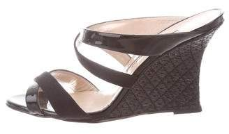 Manolo Blahnik Crossover Wedge Sandals